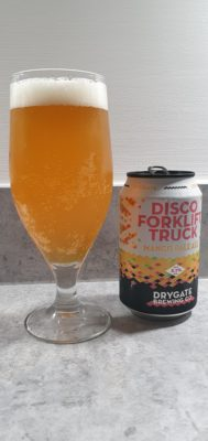 Disco Forklift Truck can and pour