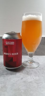 James Beer can and pour