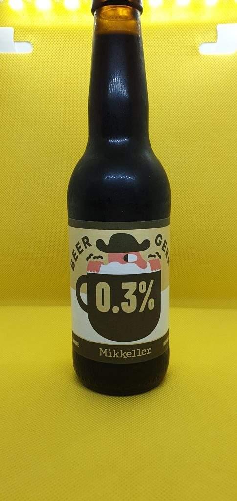 Beer Geek Flat White 0.3% Stout Mikkeller bottle
