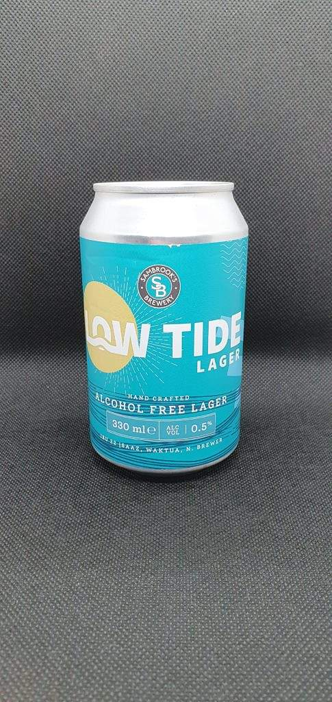 Low Tide alcohol free lager can