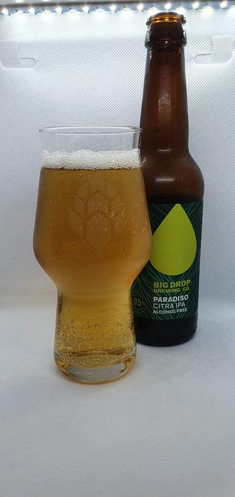 Paradiso Citra IPA bottle and pour