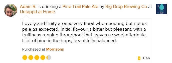 Pine Trail Untappd Review Adam