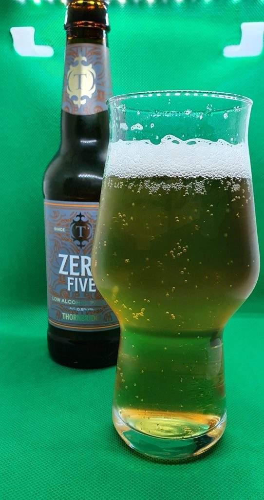 Zero Five bottle and pour