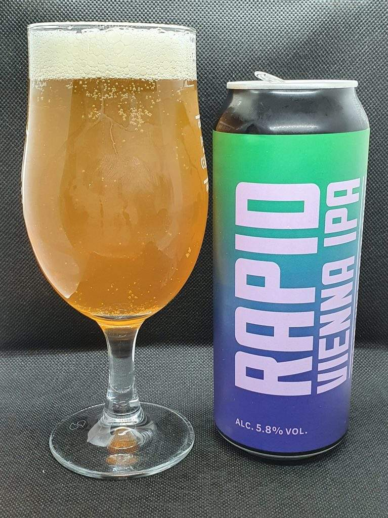 Rapid Vienna IPA - Can and Pour